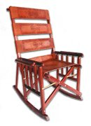 Costa Rican Leather Rocking Chair